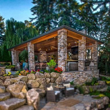 Wood Structures in Landscape Design