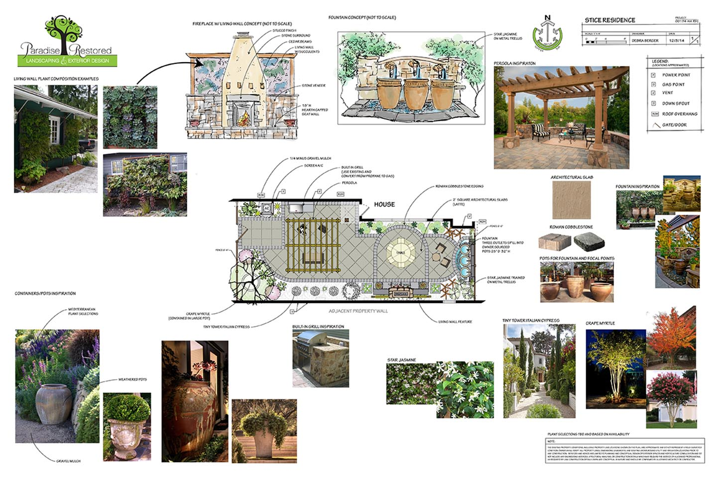 landscape design plan -