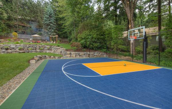 Top of the line Sport court in landscape