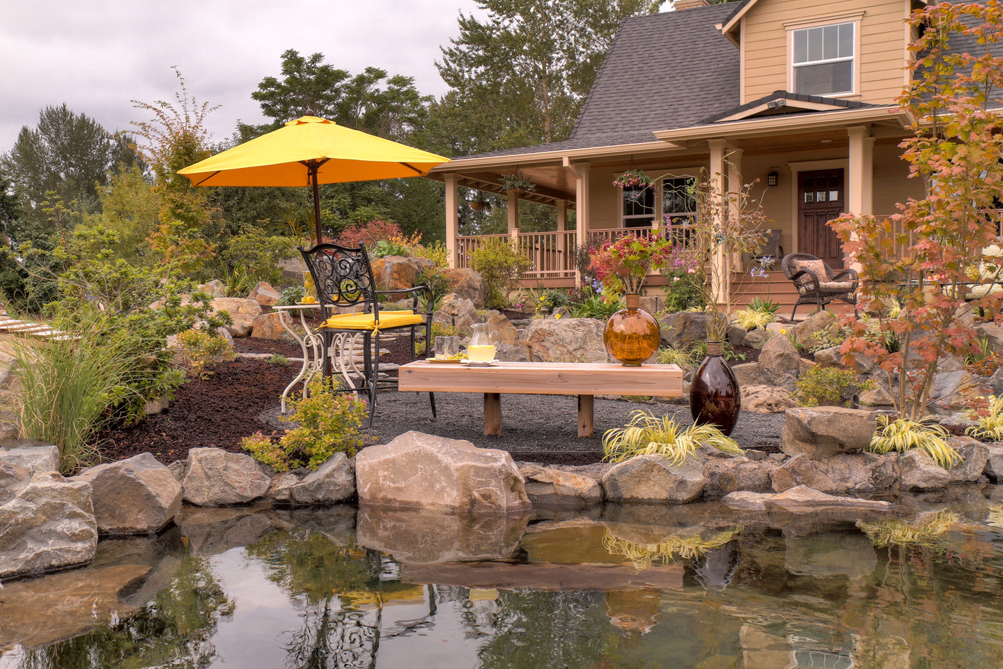 Front Entrance Pond Landscape