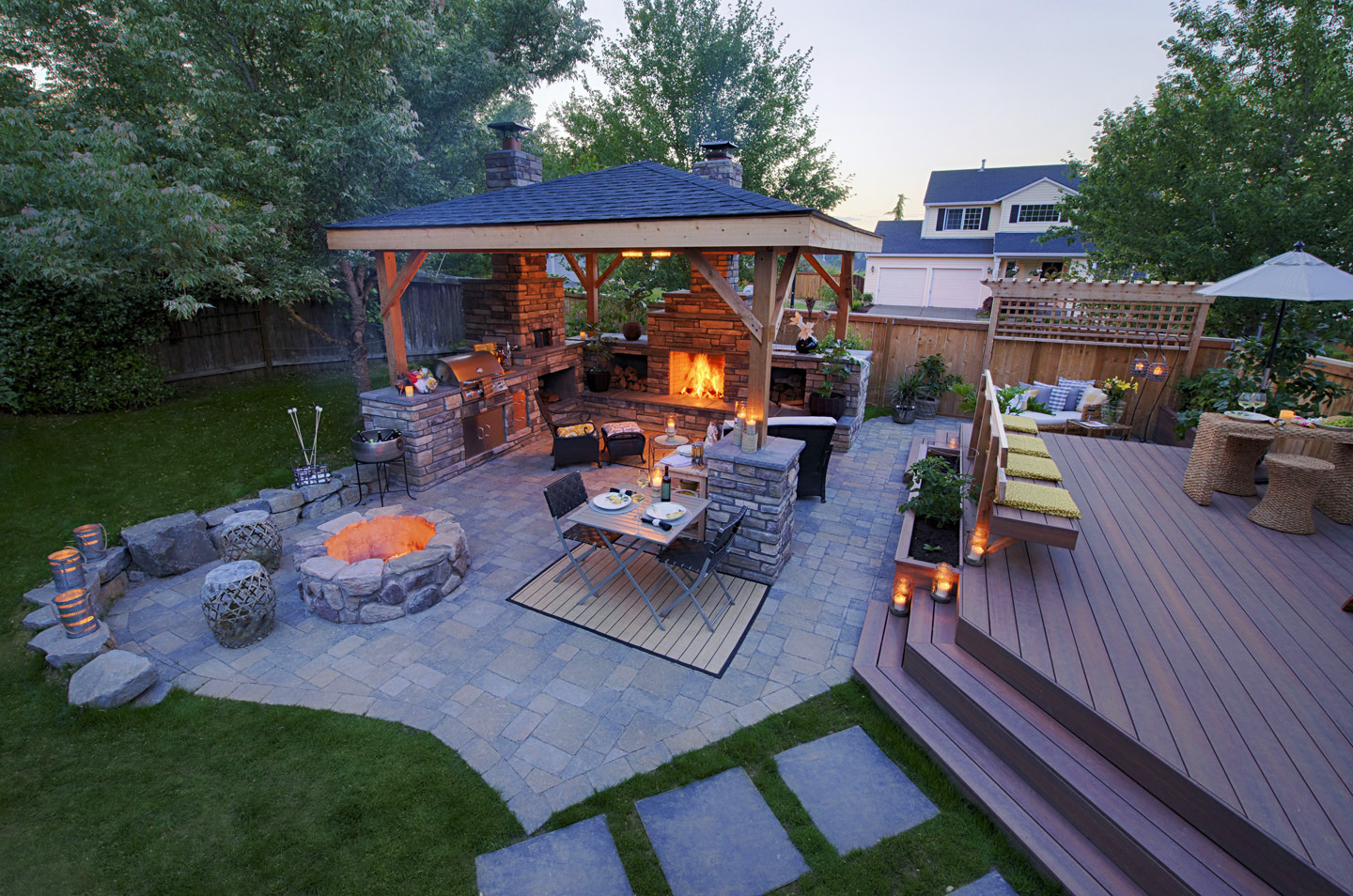 Backyard Deck Ideas - Paradise Restored Landscaping on Deck And Patio Ideas For Small Backyards id=19376