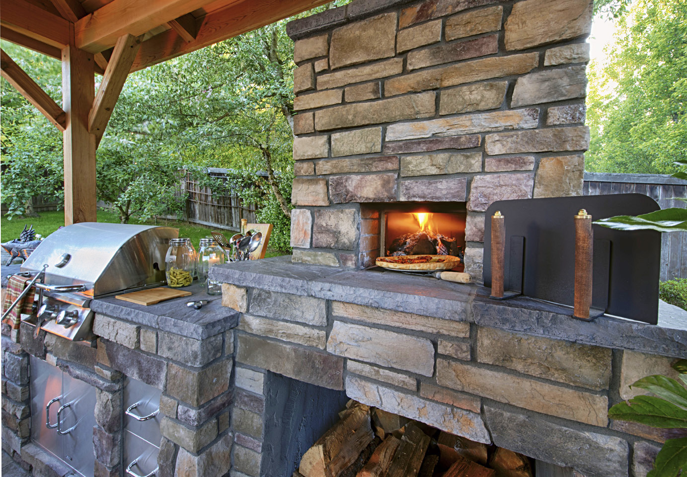 Pizza Ovens Wood Fired Paradise Restored Landscaping