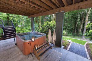 spa in landscape