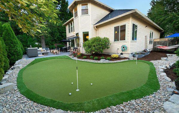 Golf Green Installation by Paradise Restored