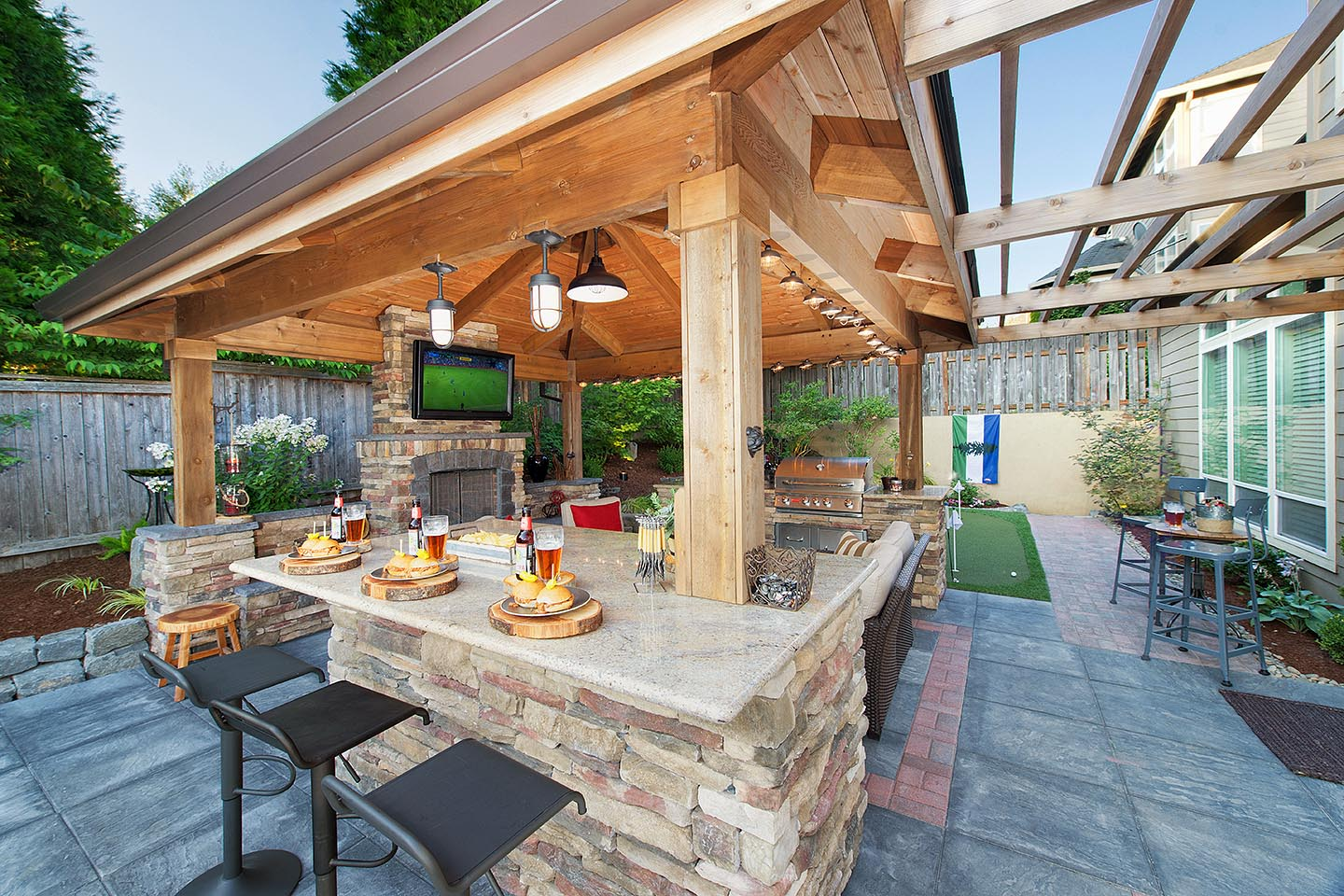 Backyard Gazebo w/Pergola
