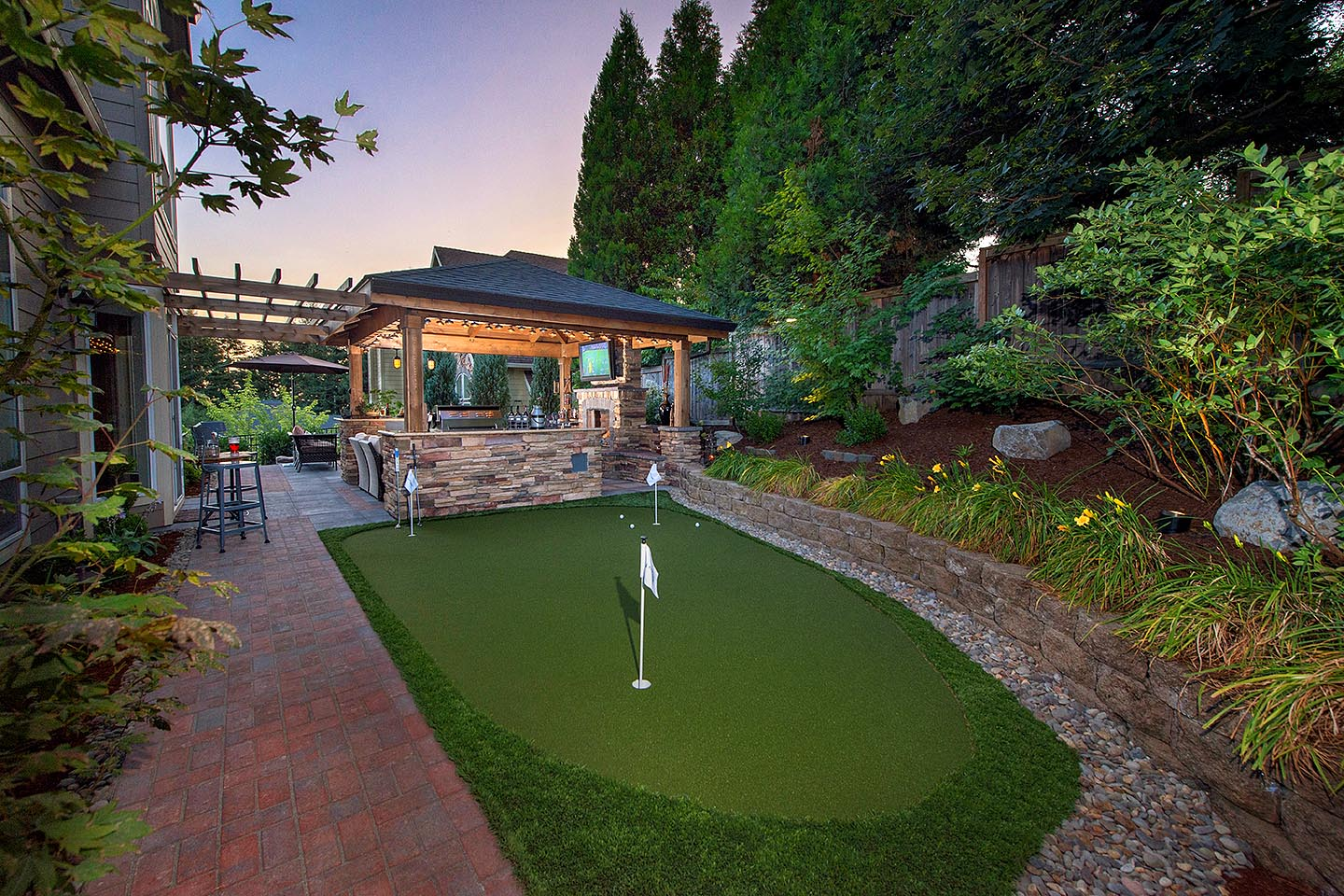 golf green in landscape design