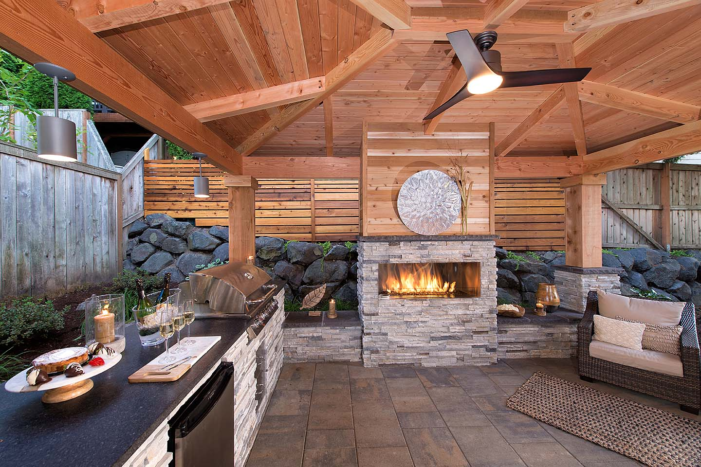 50 Outdoor Fireplace designs