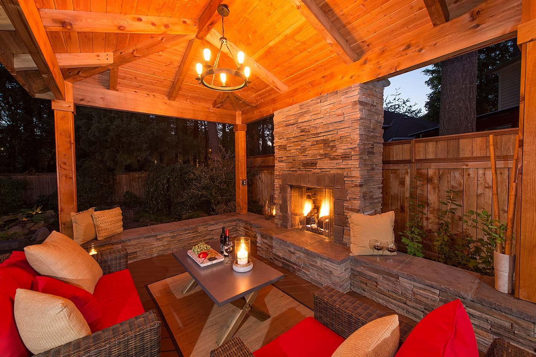 Fireplace w/Seat walls
