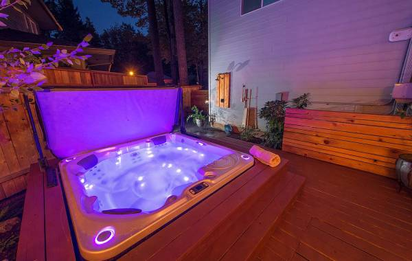 built in Hot Tub