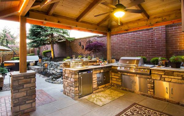 kitchen counters in landscapes