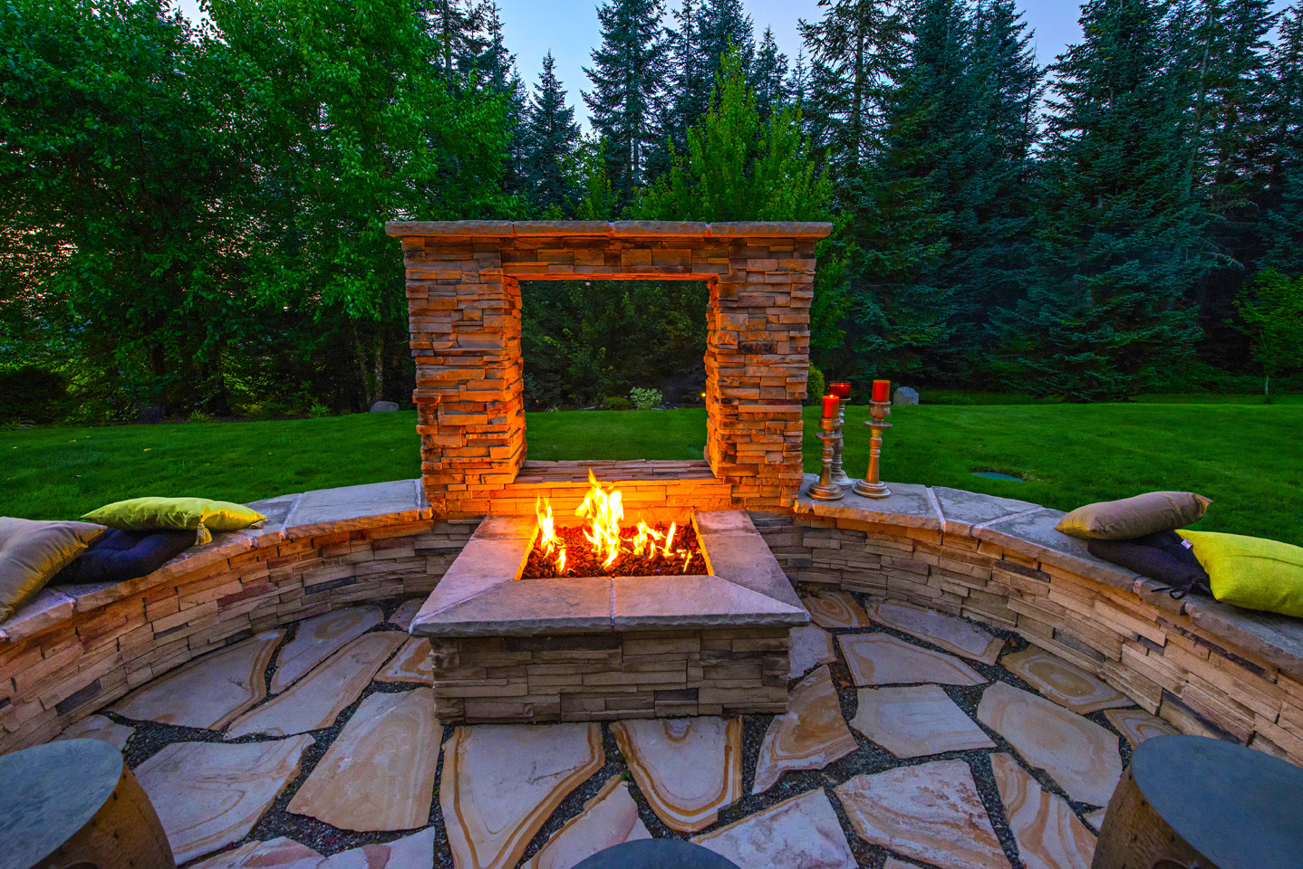 Window Pane Fire Pit