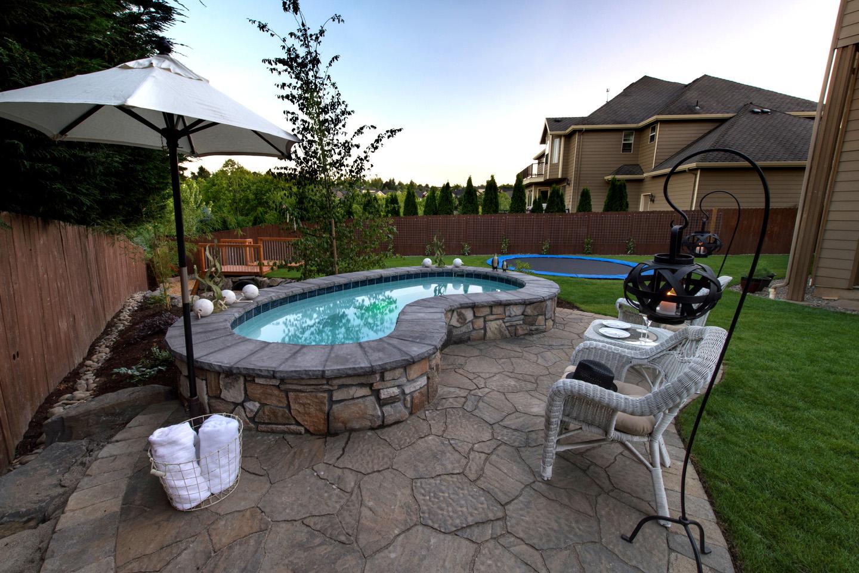 Inground spa design