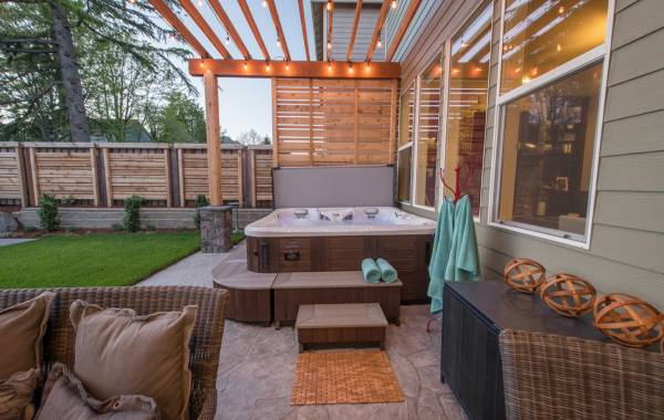 privacy screens - hot tub