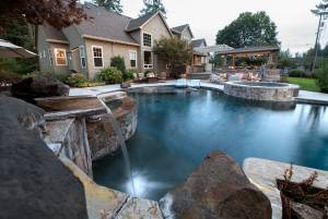 Pool and landscape