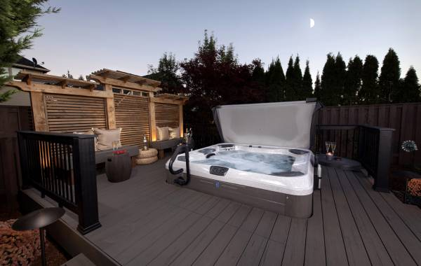 Hot Tub in landscape