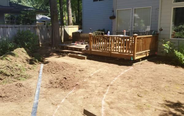 Before - Deck & Yard