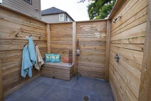 Privacy Outdoor shower