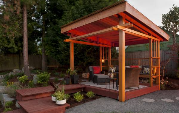 Lean-To Outdoor Structure