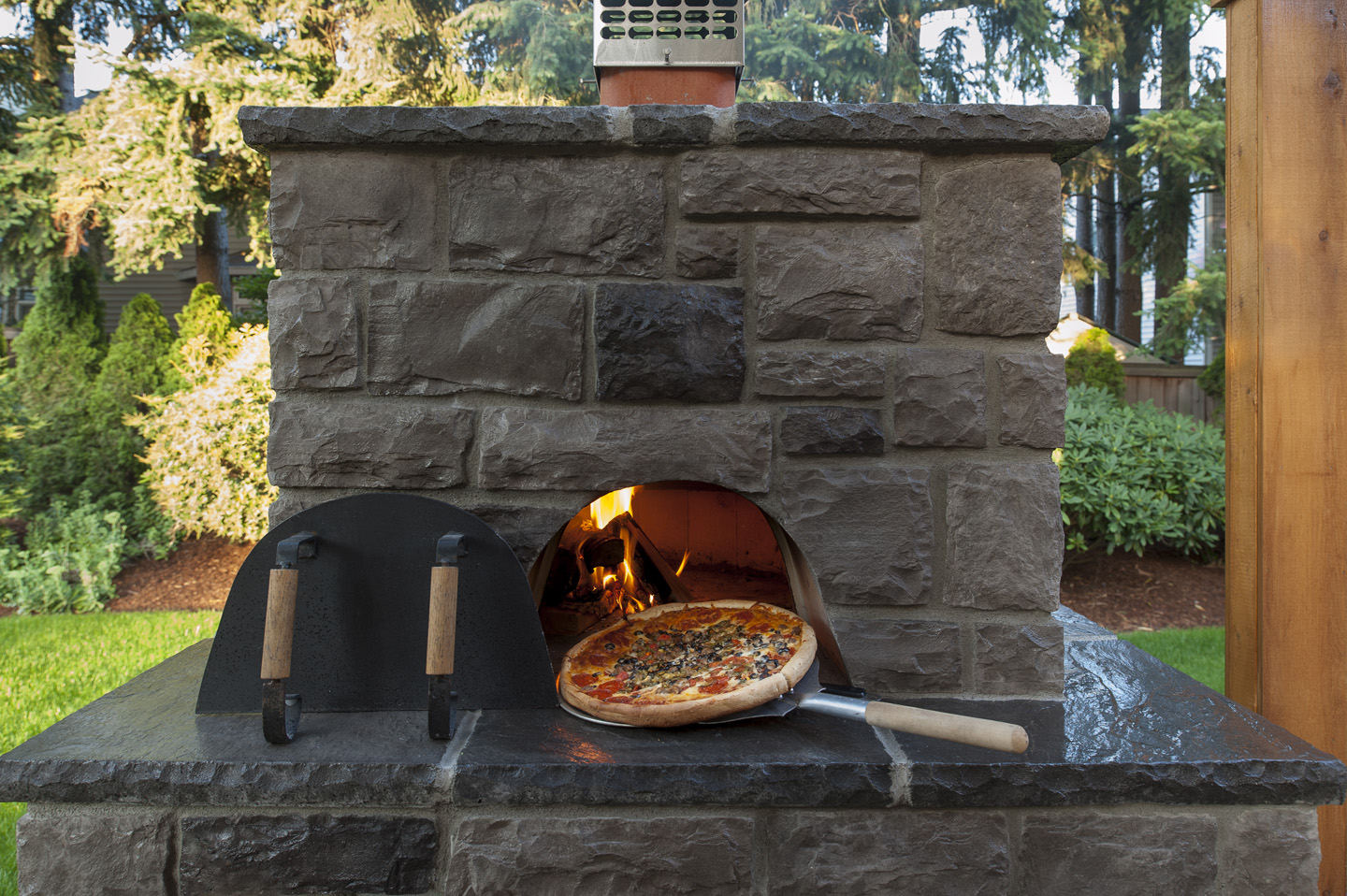 pizza ovens in landscapes