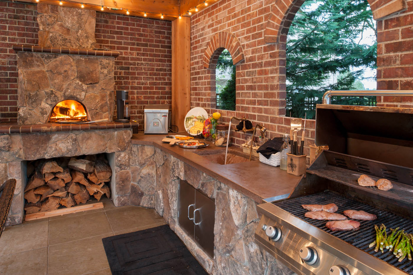 Pizza Ovens-Wood Fired - Paradise Restored Landscaping