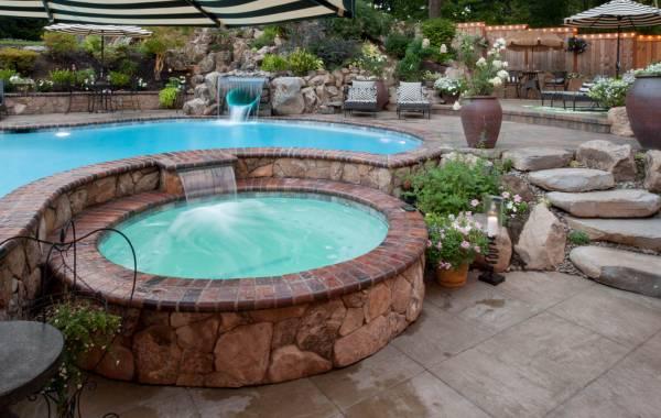Swimming Pool spa Waterfall