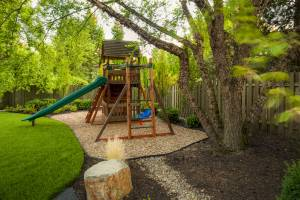playset in landscape