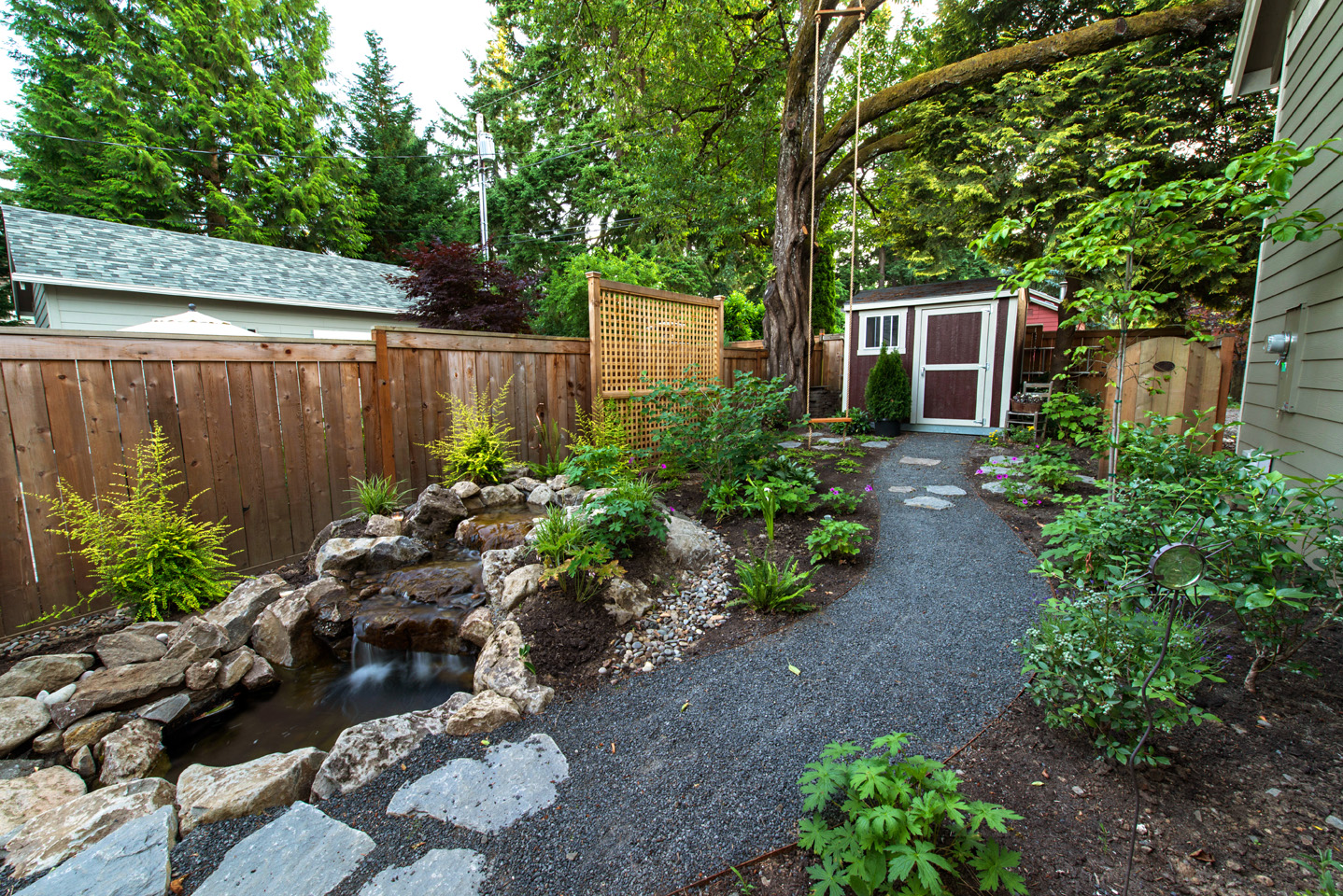 Backyard Water Features Paradise Restored Landscaping