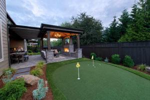 Small Backyard golf green