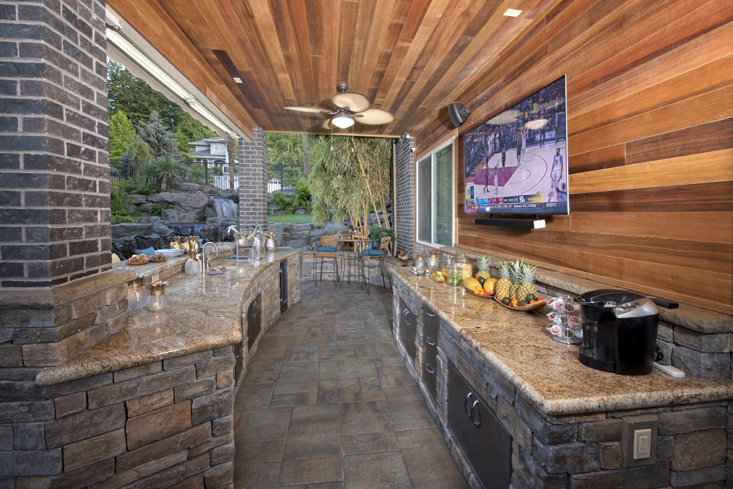 Under Deck Waterproof Outdoor Living