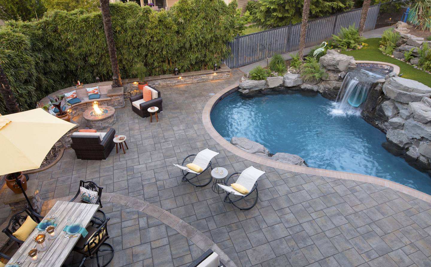Inground Pool Backyard Design Paradise Restored Landscaping