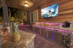 Tropical Outdoor Kitchen in Landscape Design