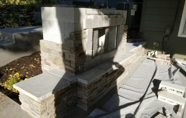 Fireplace cultured stone