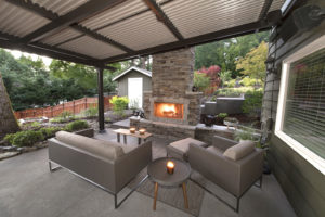 Louvered Awning in Landscape Design