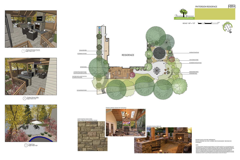 outside living design plan