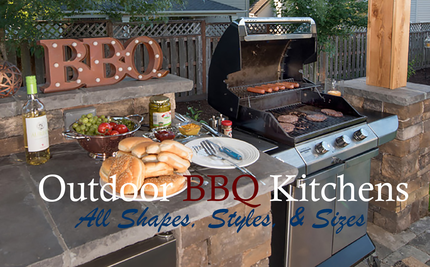 Outdoor BBQ Kitchens - Paradise Restored Landscaping