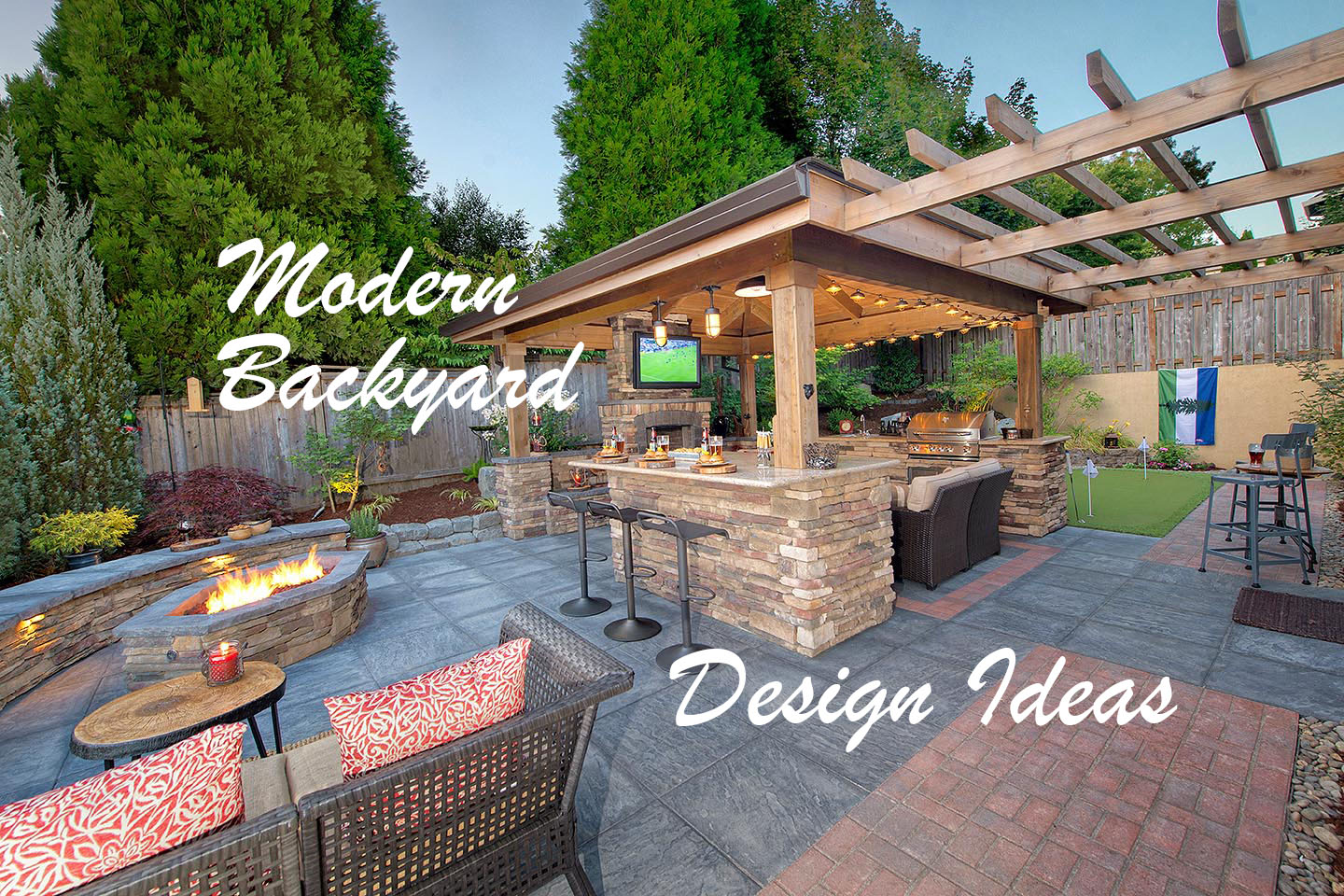 Modern Backyard Design Ideas Paradise Restored Landscaping