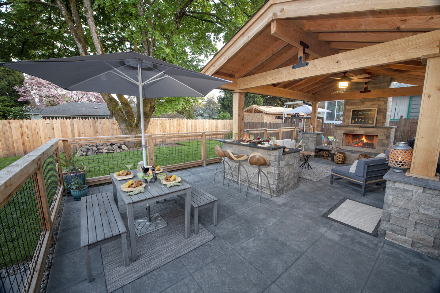 Backyard Patio Designs - Paradise Restored Landscaping on Backyard Patio  id=99224