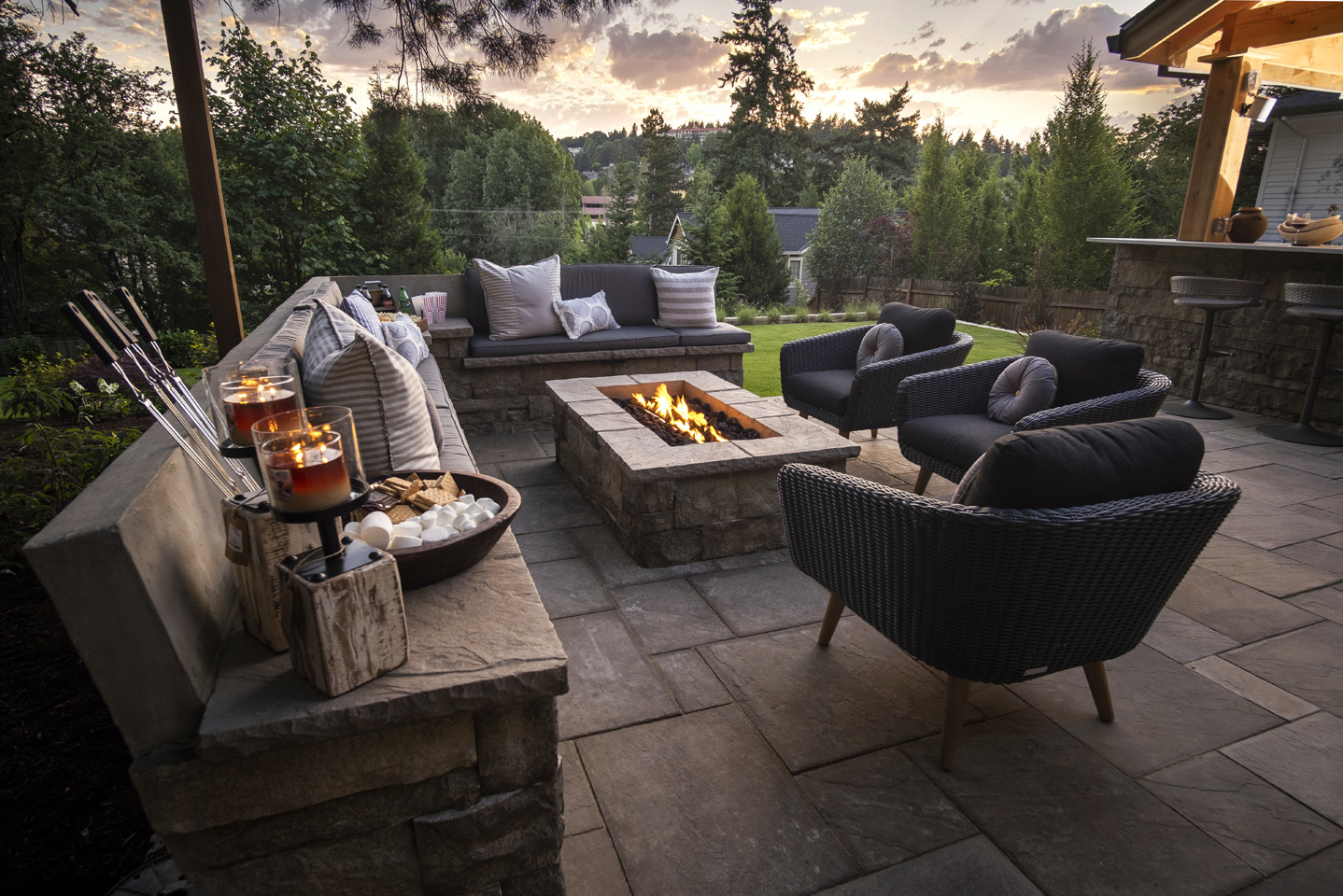 Modern Outdoor Firepit