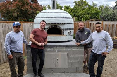 pizza oven installation in Landscape