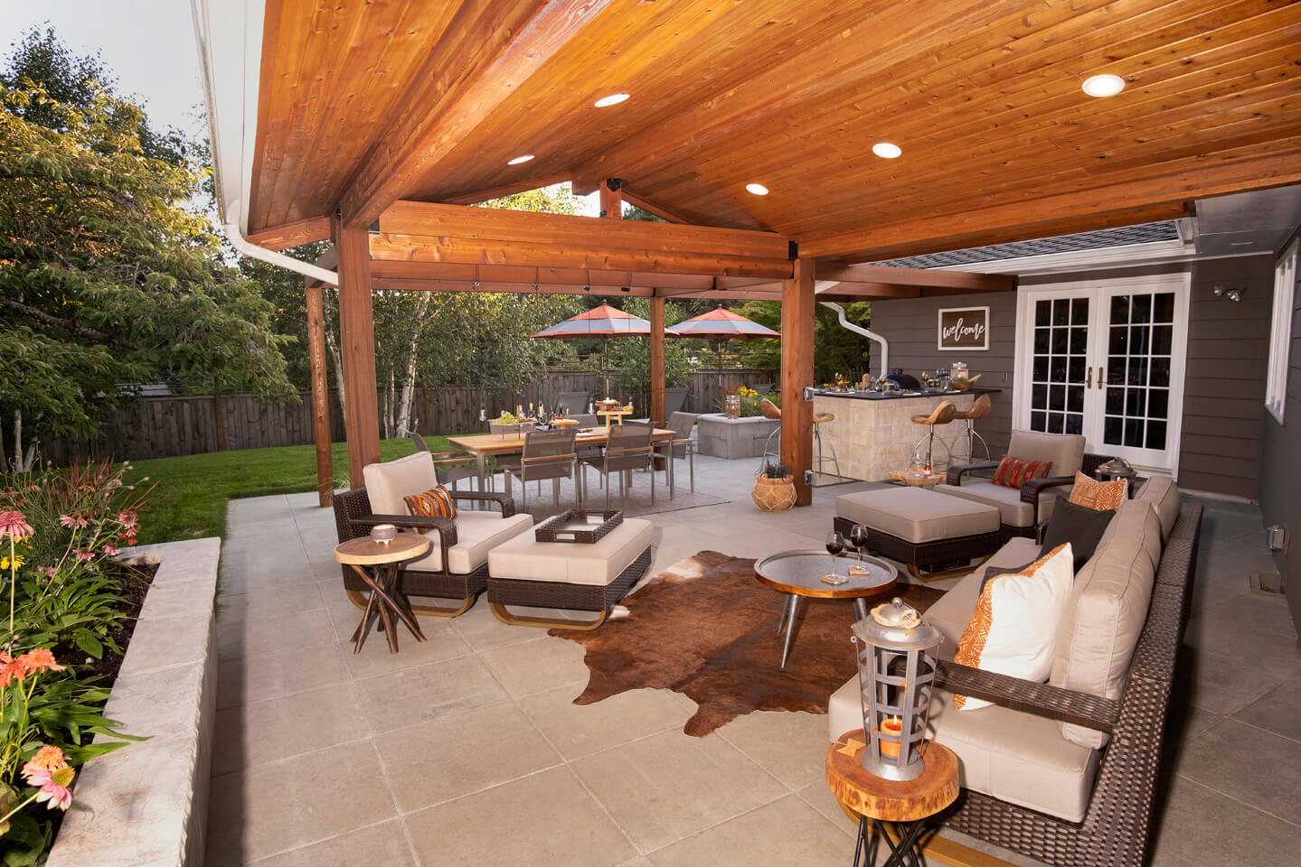 Outdoor Living Room Design Paradise Restored Landscaping
