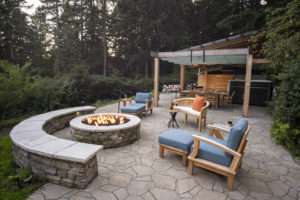 firepit in backyard design