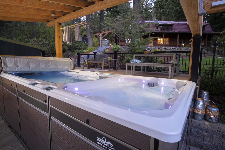 swim spa in backyard design