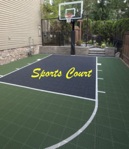 sport court in landscapes