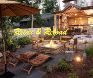 lounge area in backyard living