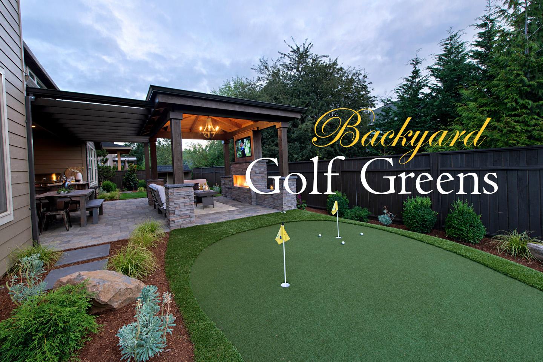 Backyard Golf Greens - Paradise Restored Landscaping