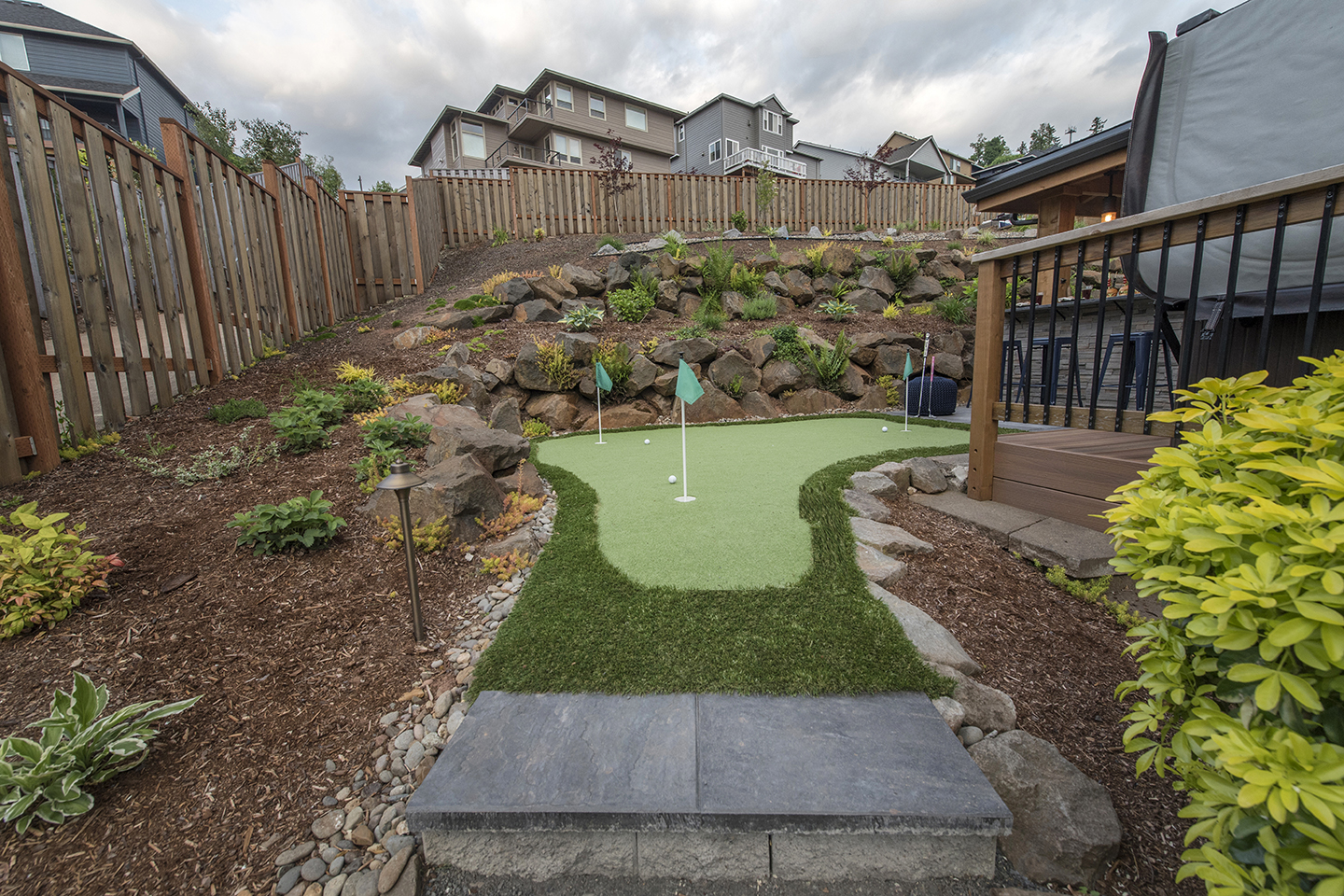Backyard Golf Greens