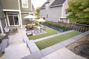 Bistro Set in Smaller Yard
