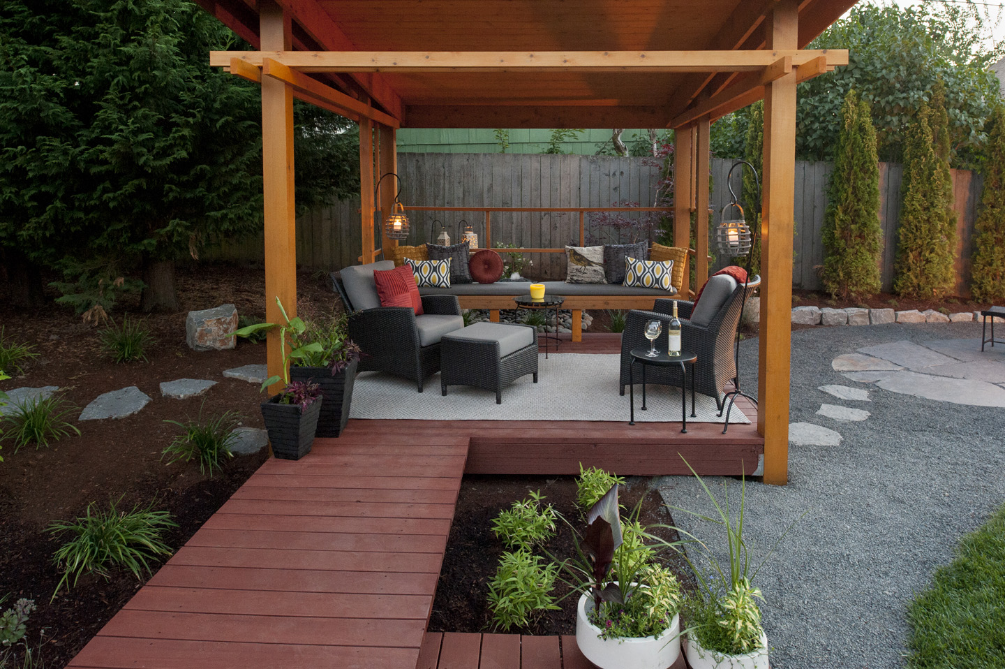 Backyard Lean-to Structure