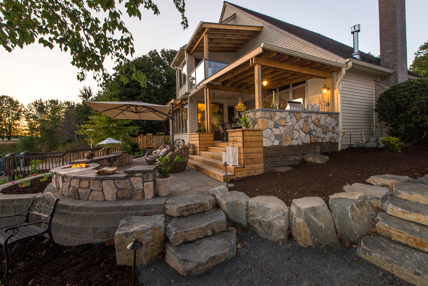 Lean-to Style structure in Outdoor Space