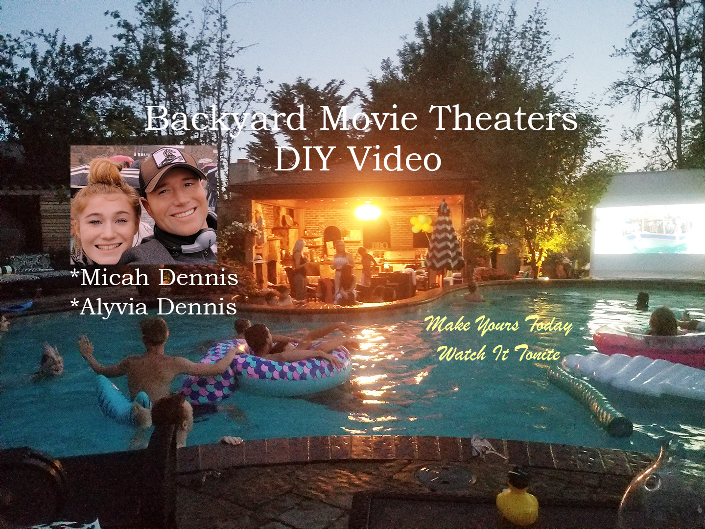 video on backyard movie theatre